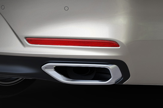 Bumper-integrated dual muffler