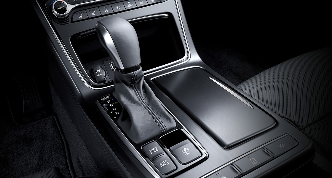 Closer view of 8-speed automatic transmission