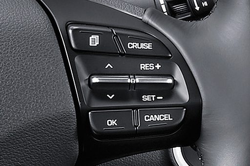Auto cruise control on the steering wheel
